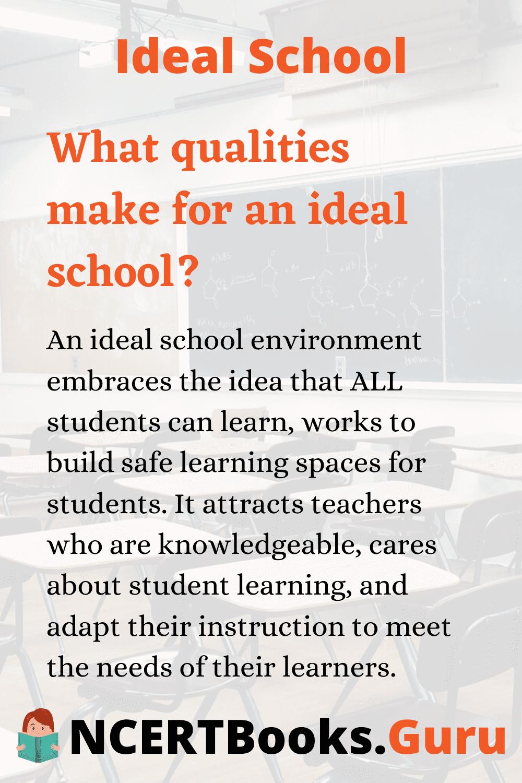 Qualities of Ideal School