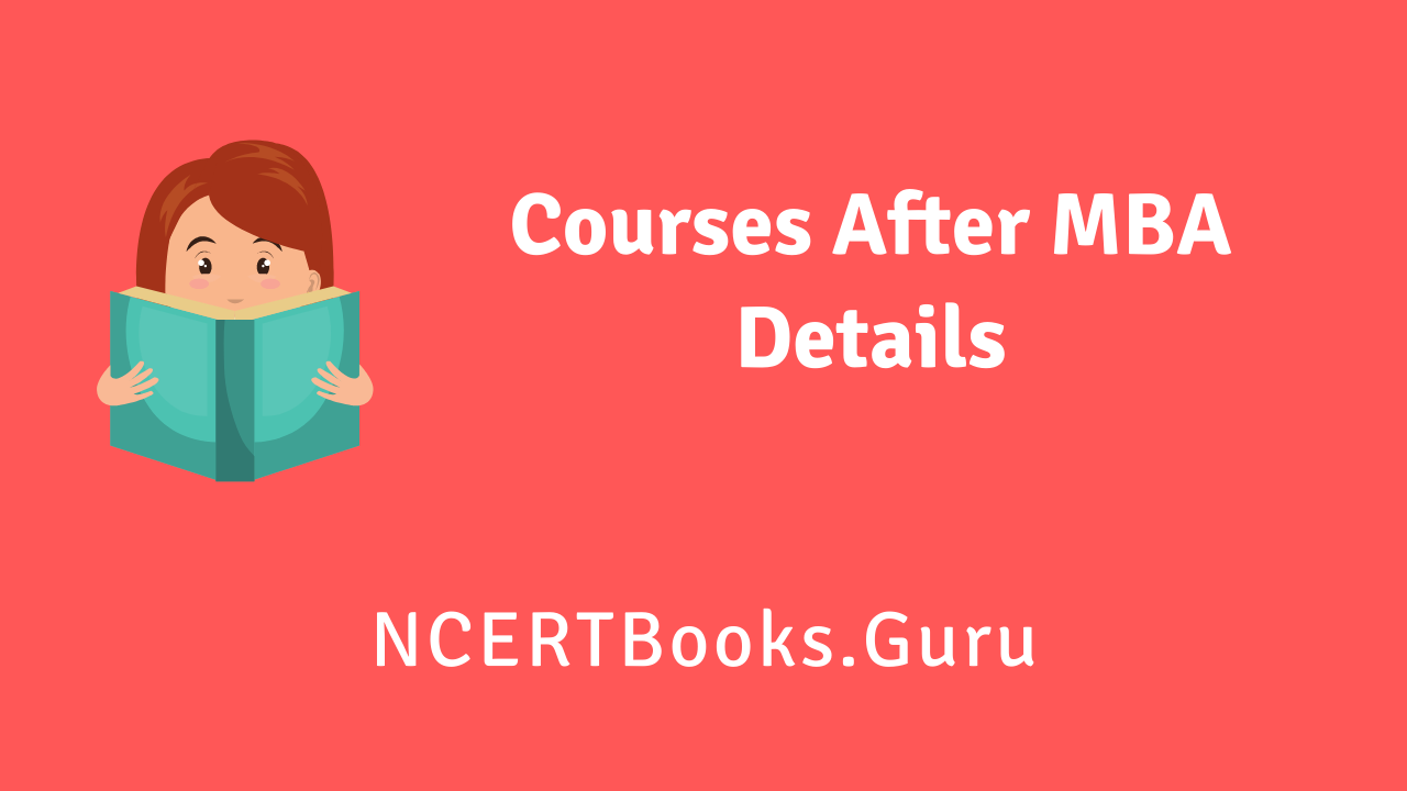 Courses After MBA