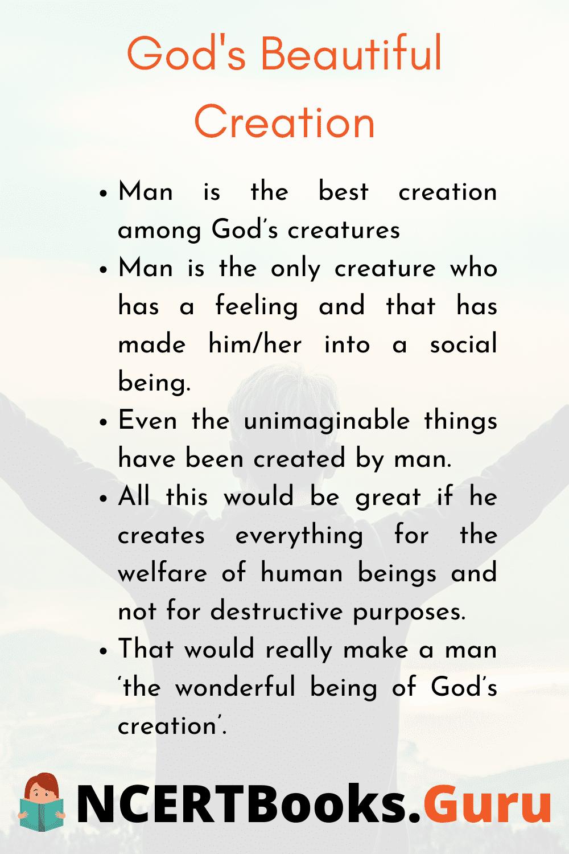 Essay on Gods Beautiful Creation