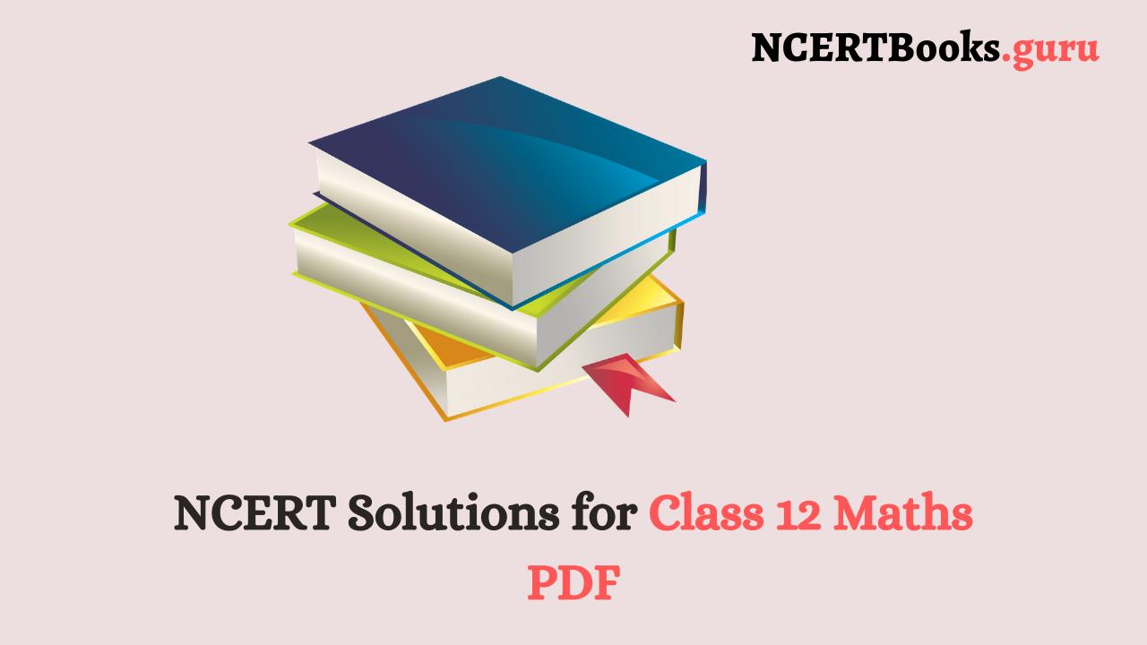 NCERT Solution for Class 12 Maths PDF