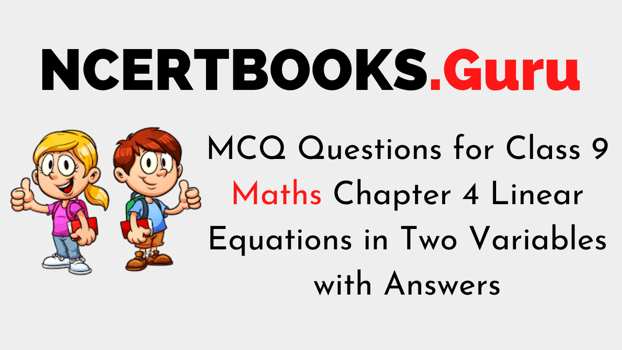 MCQ Questions for Class 9 Maths Chapter 4 Linear Equations in Two Variables with Answers