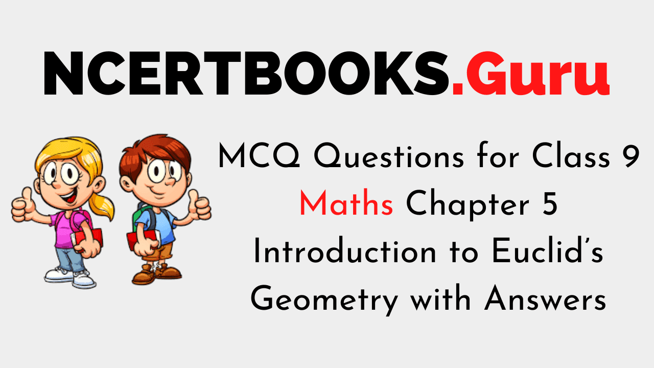 MCQ Questions for Class 9 Maths Chapter 5 Introduction to Euclid's Geometry with Answers