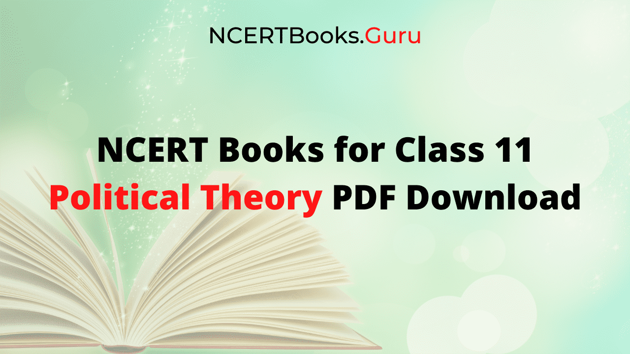 NCERT Books for Class 11 Political Theory PDF Download