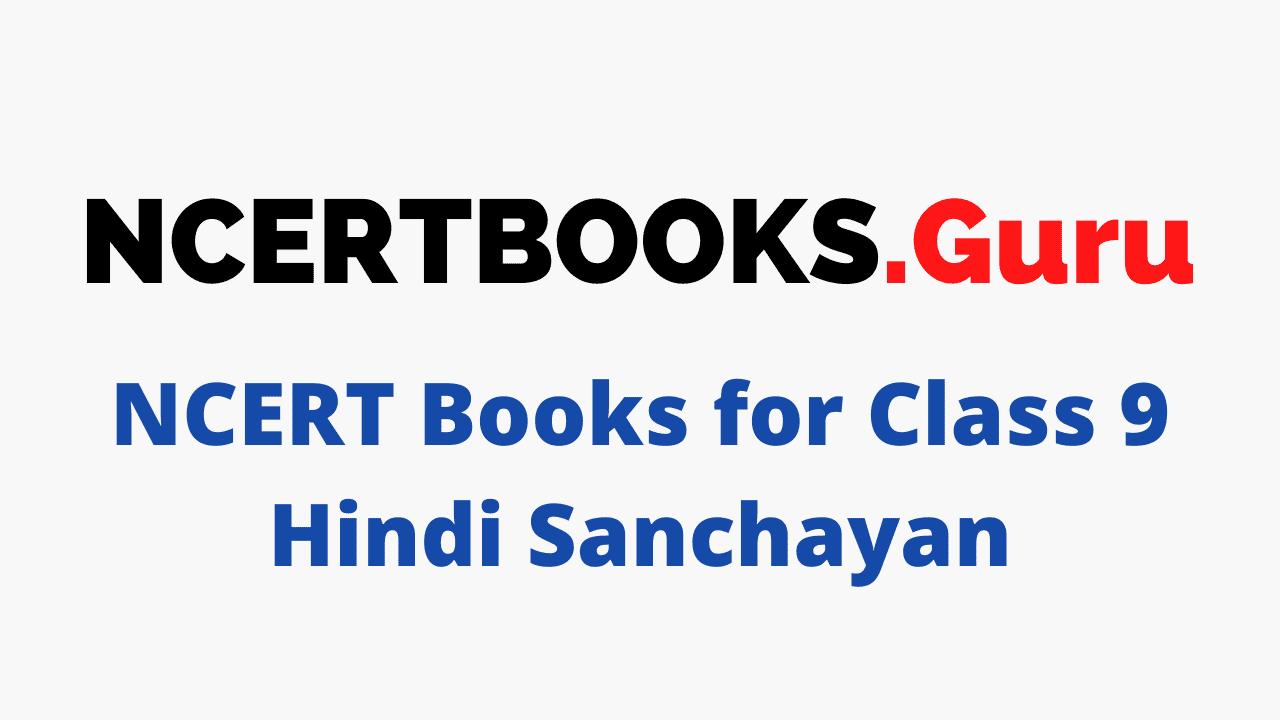 NCERT Books for Class 9 Hindi Sanchayan