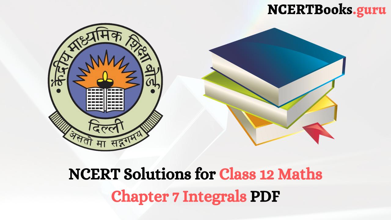 NCERT Solutions for Class 12 Maths Chapter 7