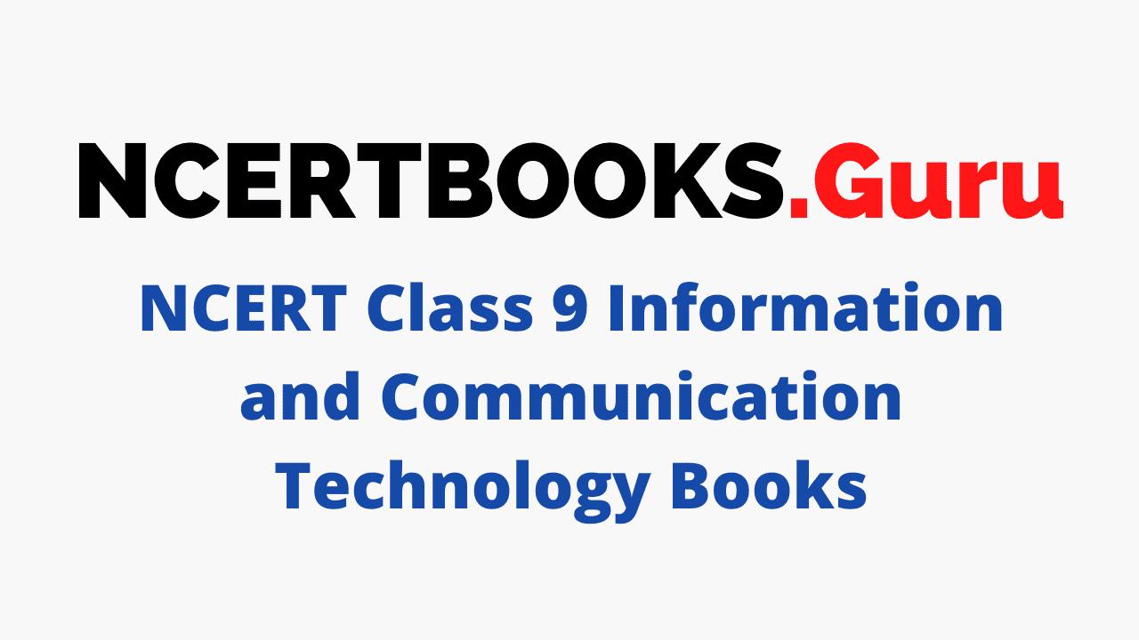 NCERT Class 9 Information and Communication Technology Books