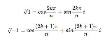 Fourth Root using De moivre's Theorem