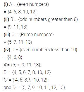 Selina Concise Mathematics Class 7 ICSE Solutions Chapter 13 Set Concepts Ex 13C 22