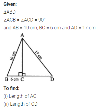 Selina Concise Mathematics Class 7 ICSE Solutions Chapter 16 Pythagoras Theorem 11