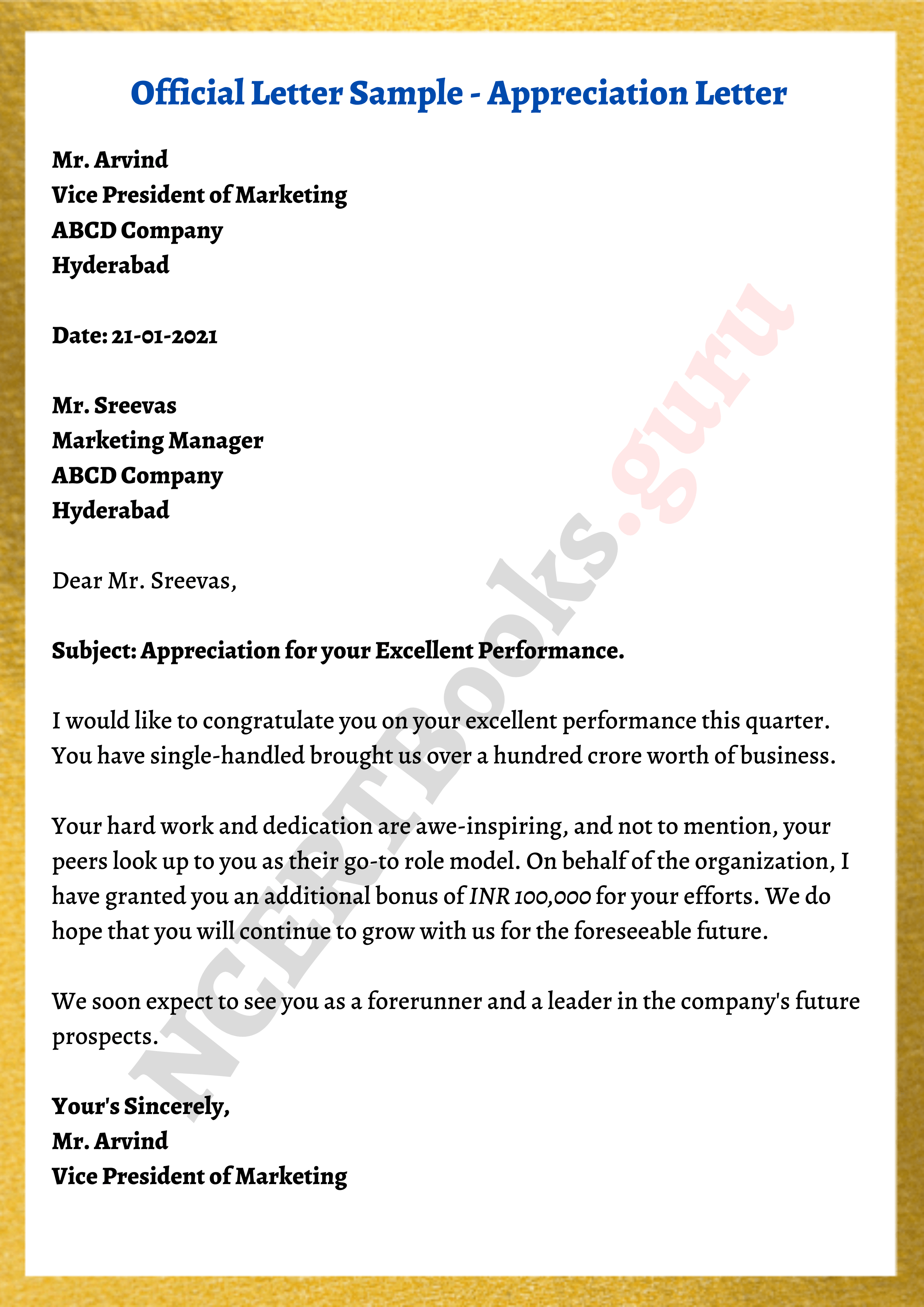Samples official documents Form I