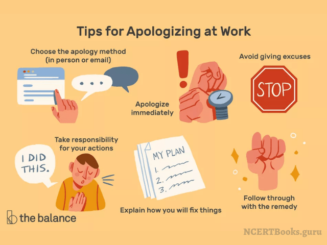 tips for writing apology letter at work