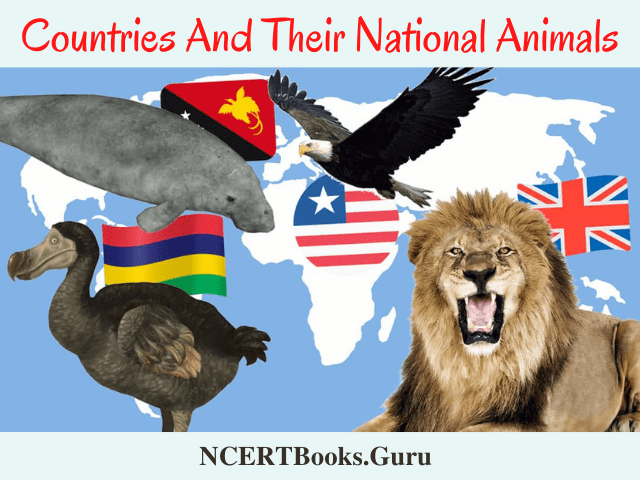 countries and their national animals list