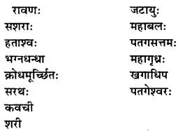 NCERT Solutions for Class 9 Sanskrit Shemushi Chapter 10 जटायोः शौर्यम् 2