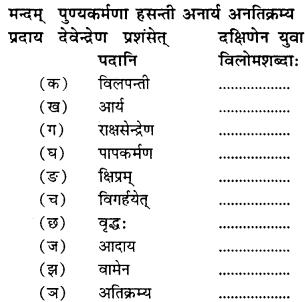 NCERT Solutions for Class 9 Sanskrit Shemushi Chapter 10 जटायोः शौर्यम् 5