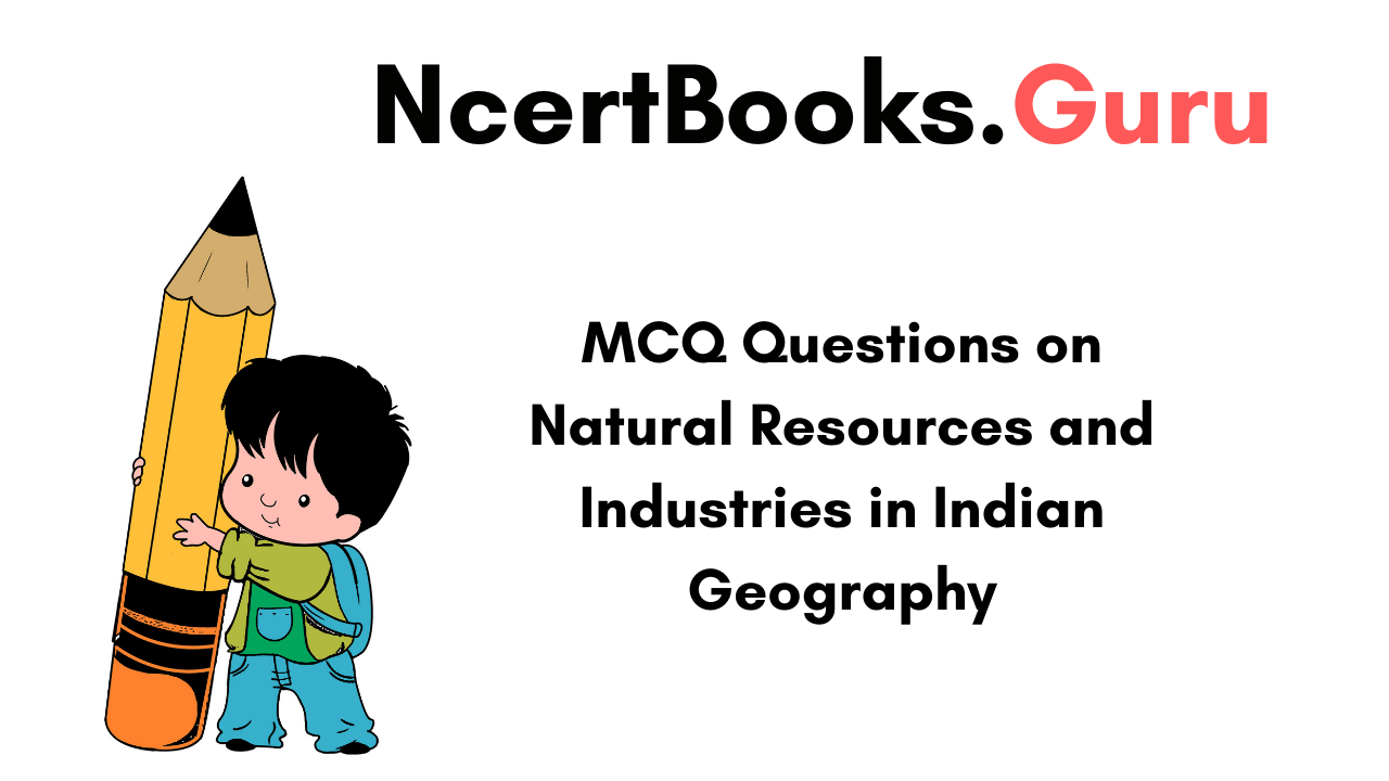 MCQ Questions on Natural Resources and Industries in Indian Geography