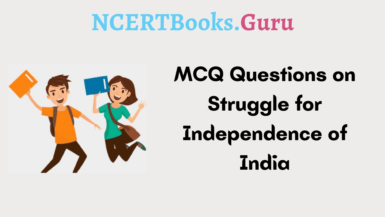 MCQ Questions on Struggle for Independence of India
