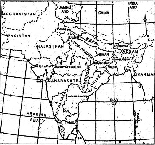 NCERT Solutions for Class 9 Social Science Geography Chapter 1 India-Size and Location 2